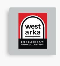 004   West Arka Matchbook Canvas Print