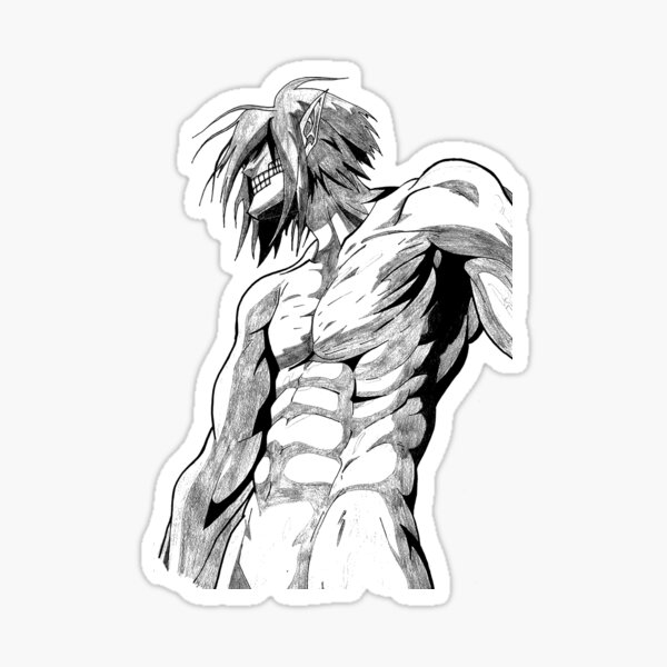 eren yeager stickers redbubble