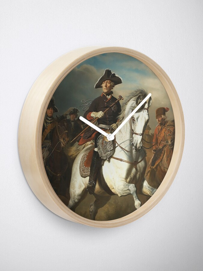 Alternate view of Frederick the Great with his Generals Clock