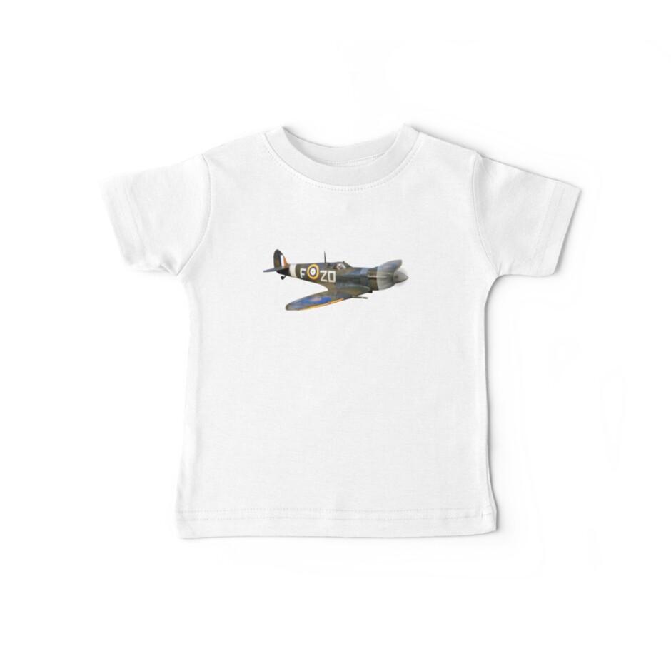«SPITFIRE, Británico, Avión, Luchador, Segunda Guerra Mundial, 1942, Spitfire VB, Escuadrón 222, recortar» de TOM HILL - Designer