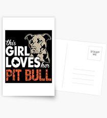 This Girl Loves Her Pit Bull Postcards