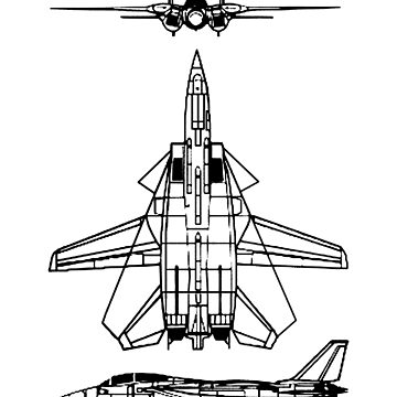 JET, FIGHTER, Aircraft, America, American, Grumman, F-14, Tomcat, DRAWING, supersonic, twin-engine, two-seat, variable-sweep wing,  by TOMSREDBUBBLE