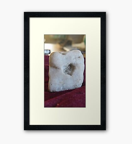 Heart rock  Framed Print