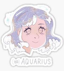 aquarius, the water bearer [zodiac series] Sticker