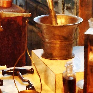 Brass Mortar And Pestle by SudaP0408