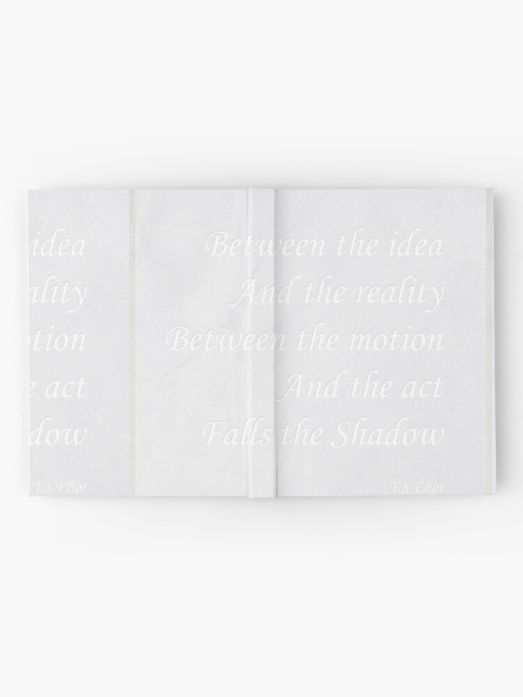 Alternate view of Quotation from T.S.Eliot  Hardcover Journal