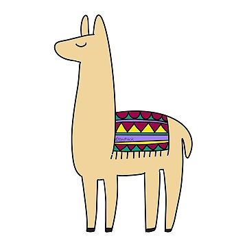 natural llama - beige, white, pink, turquoise by Isa-Miller