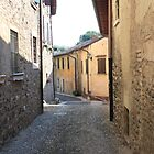 Street and stone houses by annalisa bianchetti