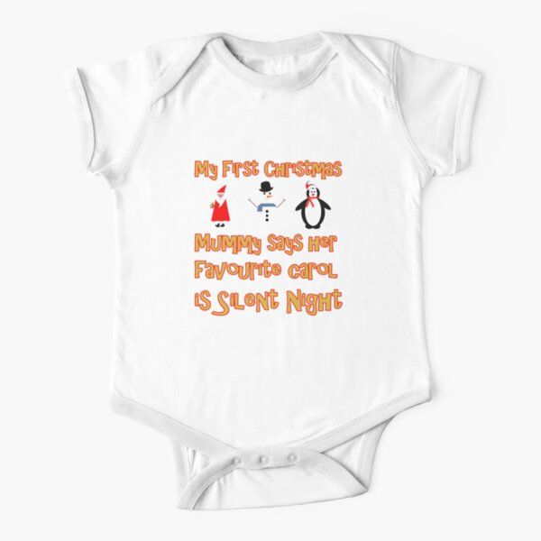 My First Christmas - Silent Night Short Sleeve Baby One-Piece