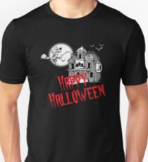 Halloween shirt horror house with witch Unisex T-Shirt