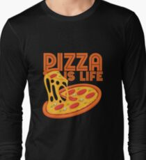 Pizza Is Life, Retro Vintage Pizza Graphic Cute Gift Idea Long Sleeve T-Shirt