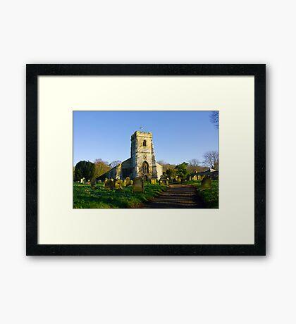 All Saints Church - Settrington Framed Print