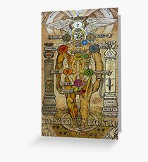 ANATOMY OCCULTUS : Vintage Abstract Body Print Greeting Card