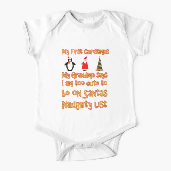 My First Christmas - Nice List Short Sleeve Baby One-Piece
