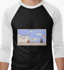 The Wolf of Wall Street + Super Mario Bros. Men's Baseball ¾ T-Shirt