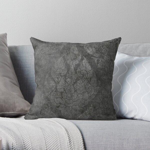 Black In Damask Throw Pillow