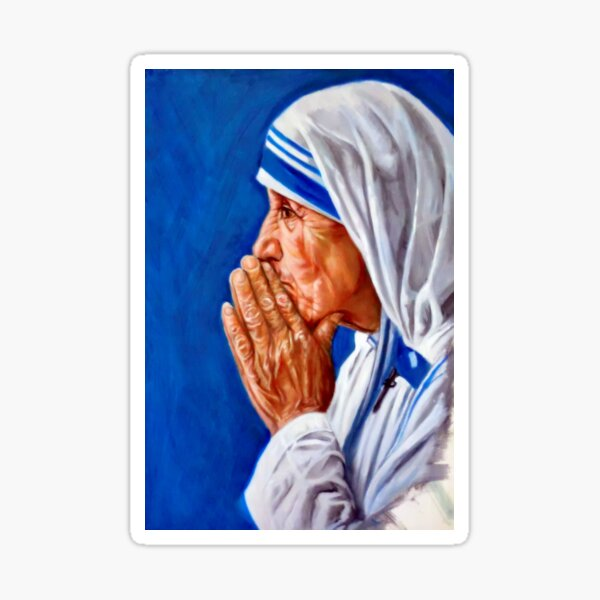 portrait of Mother Teresa Sticker