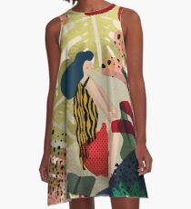 Relaxed In Jungle A-Line Dress
