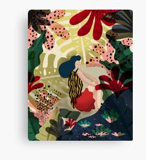 Relaxed In Jungle Canvas Print