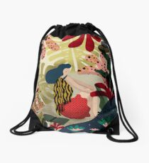 Relaxed In Jungle Drawstring Bag