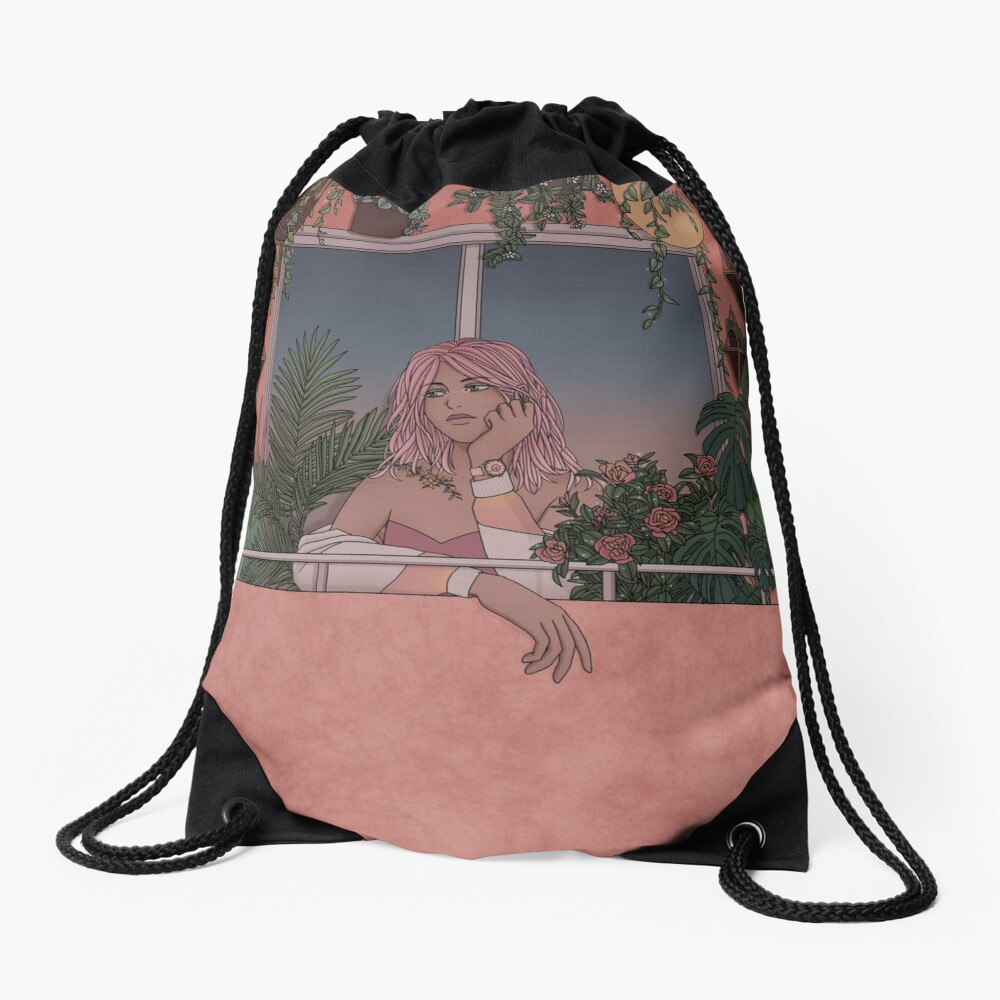 Urban Garden Drawstring Bag
