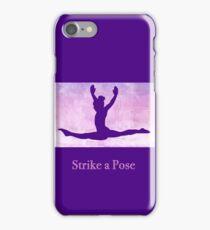 "The Gymnast ""Strike a Pose"" ~ Purple Version iPhone Case/Skin"