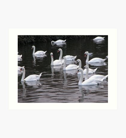 White Swan's school on the Canal Day out. Art Print