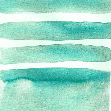 Tiffany Blue Minimalist Watercolor by laurabethlove
