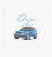 Range rover car  Drive  T-shirts  Wall Tapestry