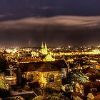Prague At Night by Kay Brewer
