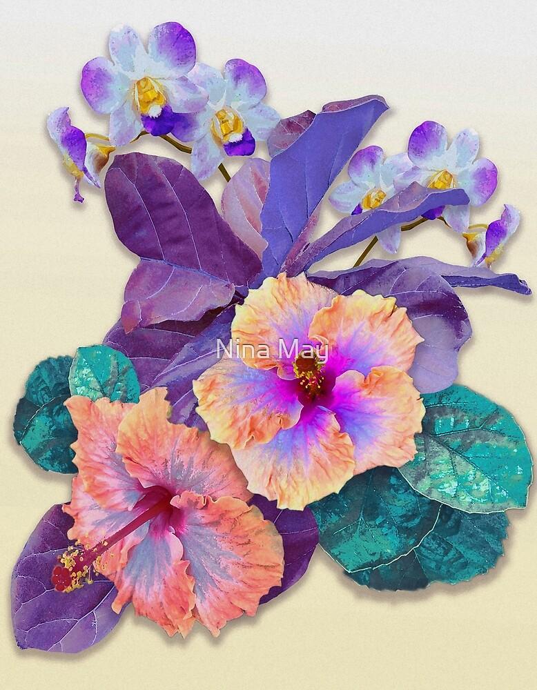 Tropical Botanical Purple by Nina May