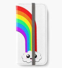 Happy Rainbow (Single on White) iPhone Wallet/Case/Skin