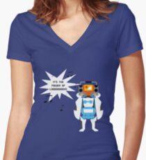 Power of Love Women's Fitted V-Neck T-Shirt