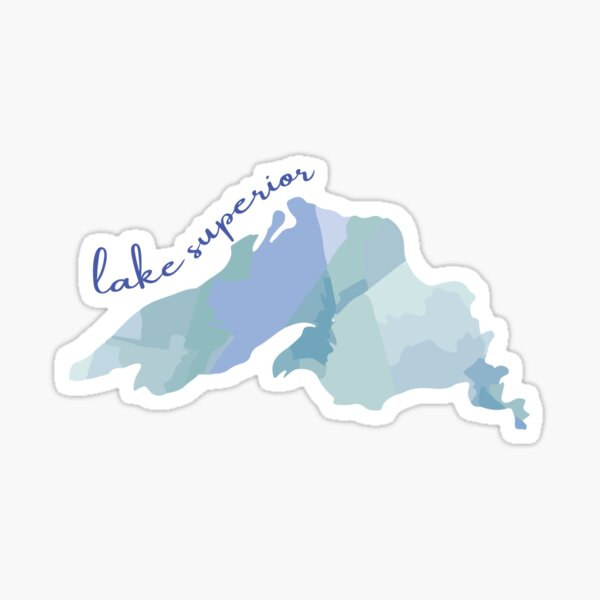 Watercolor Lake Superior Sticker