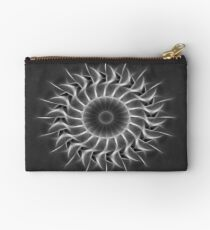 Gray Kaleidoscope Art 27 Studio Pouch