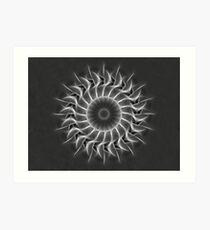 Gray Kaleidoscope Art 27 Art Print