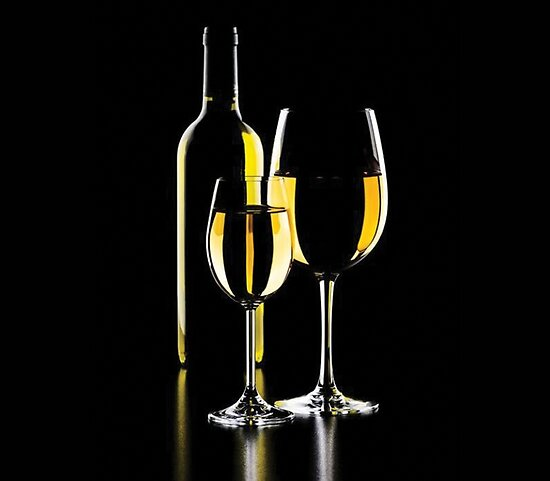 White Wine With Glass by snowgraphs
