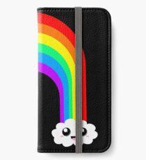 Happy Rainbow (On Black) iPhone Wallet/Case/Skin