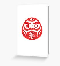 EDC Daruma  Greeting Card