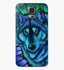 Wolf Aurora Blue Colorful Fantasy Spirit Case/Skin for Samsung Galaxy