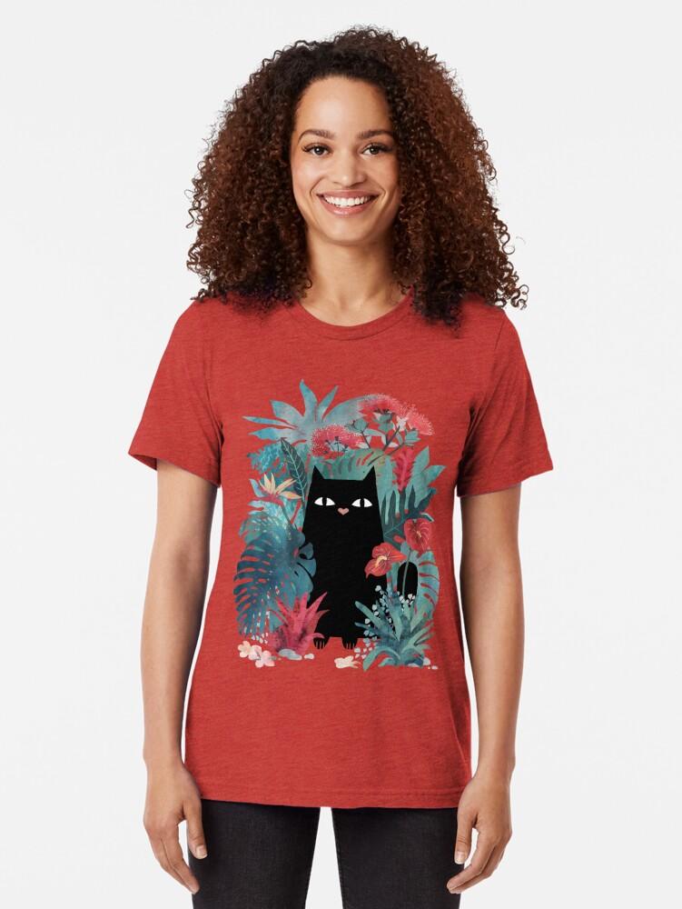 Vista alternativa de Camiseta de tejido mixto Popoki