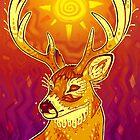 Sun Deer by psychonautic