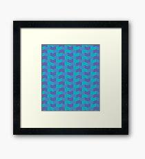 Blue tones geometric pattern Framed Print