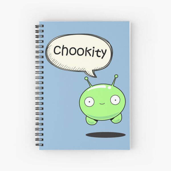 chookity mooncake Spiral Notebook