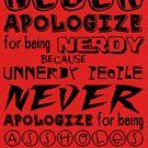NERD PRIDE - Black text by Bloodysender