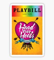 Head Over Heels Pride!  Sticker
