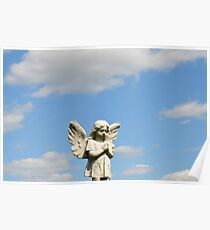 Guardian Angel Blue Skies  Poster