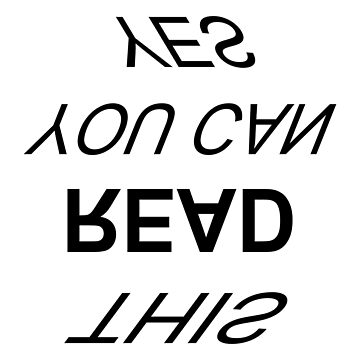 YES YOU CAN READ THIS by EK-Design24