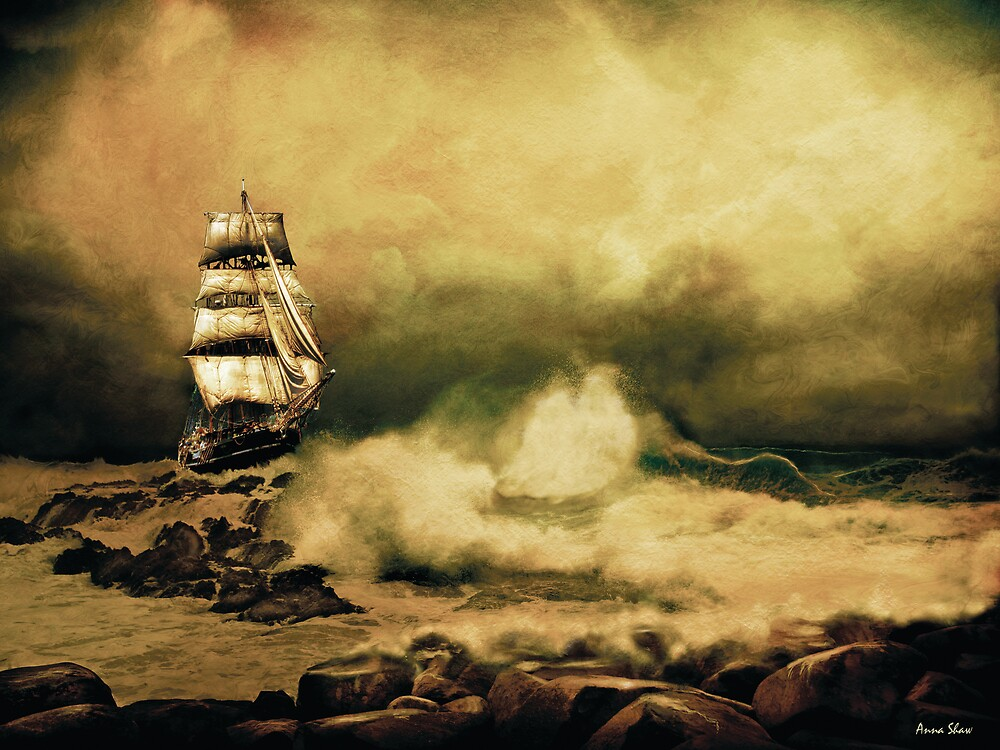 Storm At Sea (2) by Anna Shaw