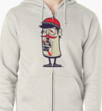 Hip In A Can Zipped Hoodie